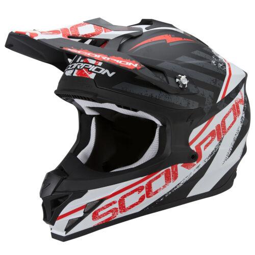 Scorpion VX-15 EVO AIR GAMMA Motorrad Crosshelm matt schwarz weiss rot