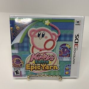 Kirby-039-s-Extra-Epic-Yarn-Nintendo-3DS-New-Sealed-Kids-Game-E-Free-Shipping