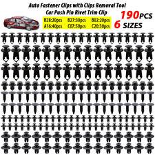 190pcs Car Trim Clips Rivets Retainer Screws Push Panel Fastener Kit Auto Push Fits Saab