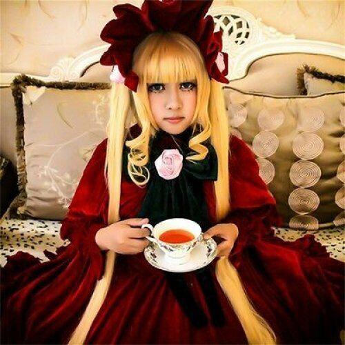 Rozen Maiden Shinku cosplay wig uk