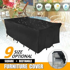 9 Size Heavy Duty Waterproof Outdoor Garden Patio Furniture Cover Table