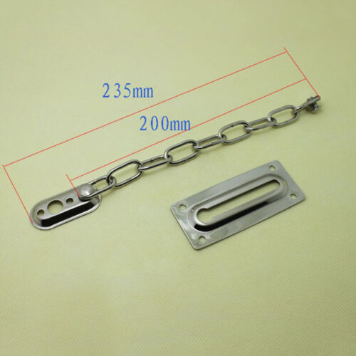 200mm Strong Steel Security Safety Door Chain Secure Guard Slide Bolt