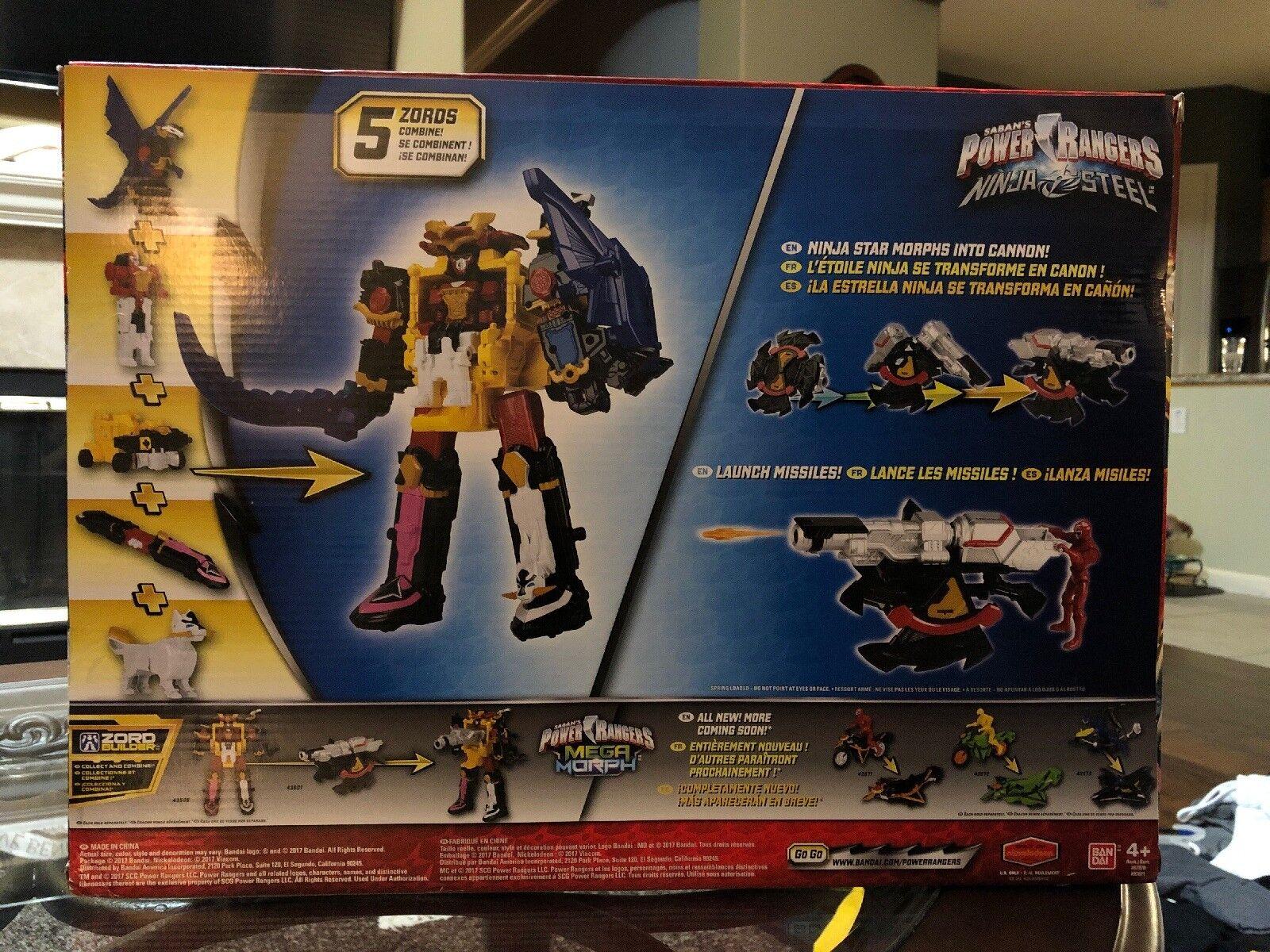 Power Rangers Ninja Steel MEGAZORD & CANNON DX Battle Battle Battle Morpher TRU Toys R Us 218237
