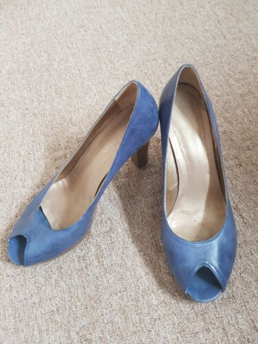 Shoes Shoes Leather 6 Blue Leather Blue Shoes Leather Size 6 Size Blue qzXg77wx