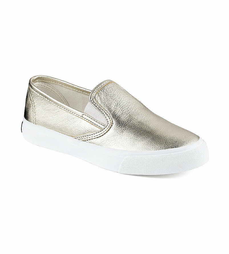 Sperry Top-Sider Seaside Luxe Baskets Platine Taille 10 m