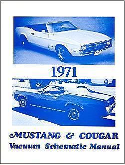 1971 71 MUSTANG//COUGAR   VACUUM SCHEMATIC