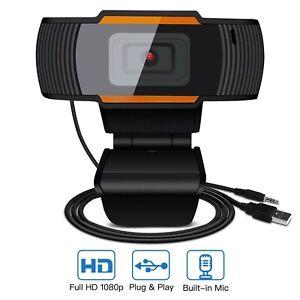 Webcam USB con jack microfono per PC e laptop camera Full HD 1080P smart working