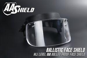 b91327cd AA Shield Ballistic Glass Visor Bullet Proof Face Mask For Helmet ...
