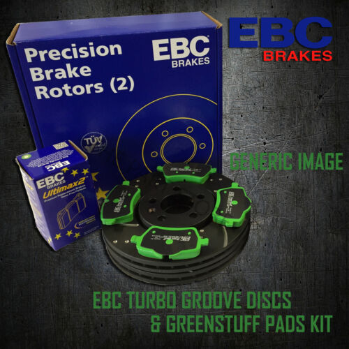 NEW EBC 256mm FRONT TURBO GROOVE GD DISCS AND GREENSTUFF PADS KIT KIT7160