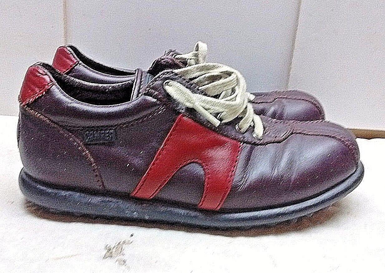 Camper Pelotas donna Leather Marroneee rosso Fashion scarpe da ginnastica Laced Casual scarpe 8M 39