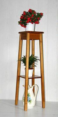 Massivholz Blumenhocker 100cm höhe honigfarben Blumentisch Blumenständer Hocker