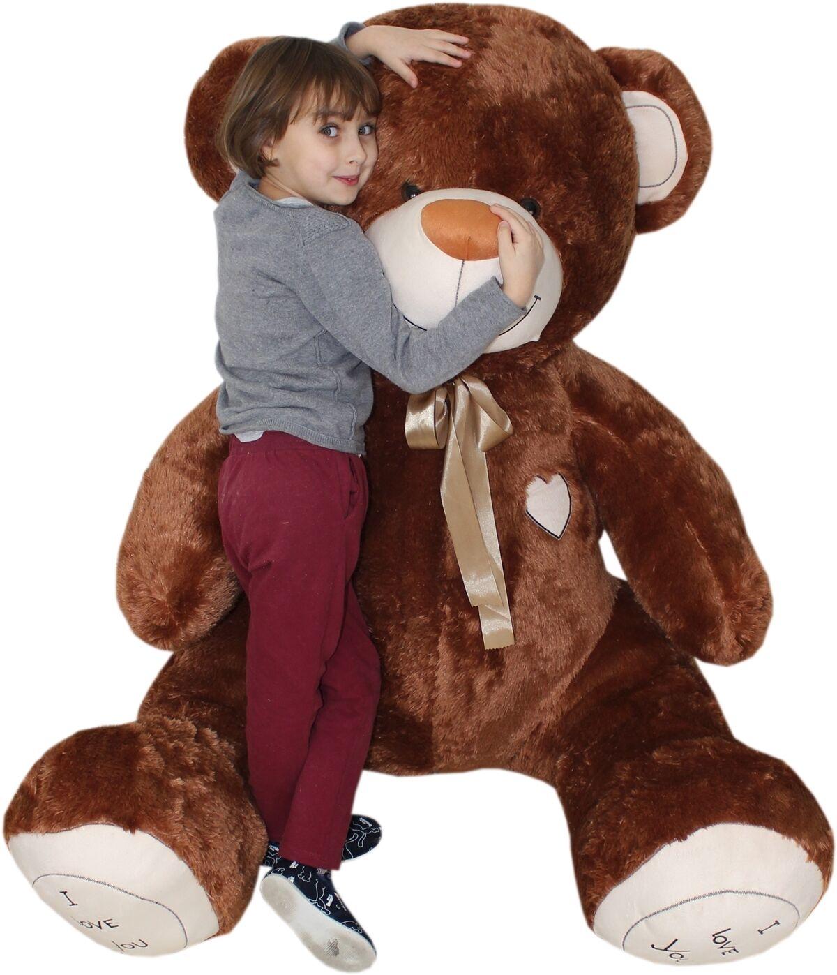 190 cm   GIANT LARGE BIG HUGE TEDDY BEAR +EMBROIDERY  braun BEIGE Weiß ECRU