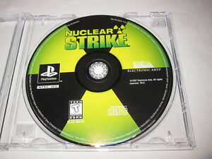 Nuclear Strike (PlayStation PS1) Game in Plain Case Vr Nice~