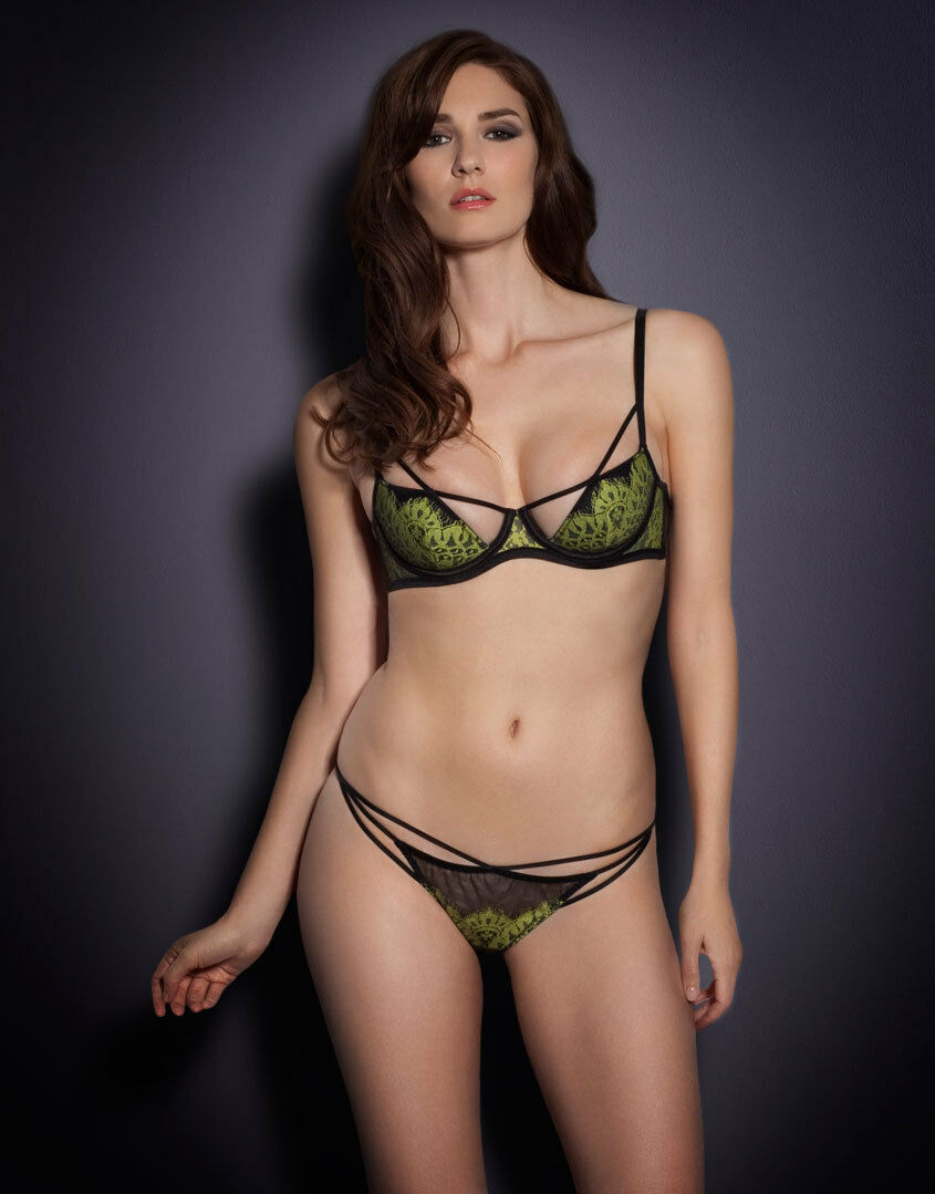 AGENT PROVOCATEUR ELECTRA BRA AND THONG SIZE 36A XL   AP5   14-16  RRP  BNWT