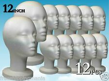 Wig Styrofoam Head Foam Mannequin Display 12 12pcs