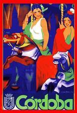 FLAMENCO, SPANISH FESTIVAL, FERIA, WOMEN ON A CAROUSEL, MAGNET