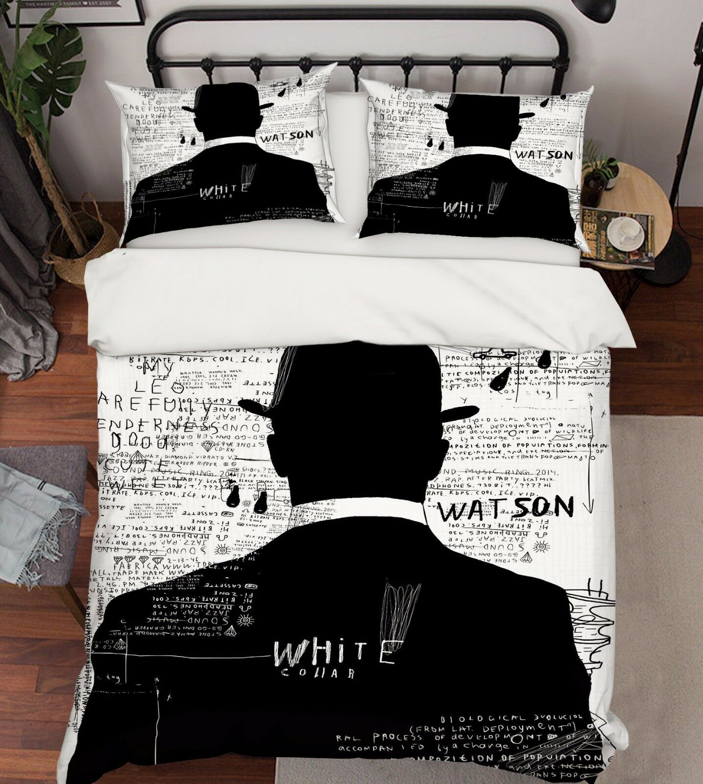 3D Man Pattern 786 Bed Pillowcases Quilt Duvet Cover Set Single Queen UK Carly