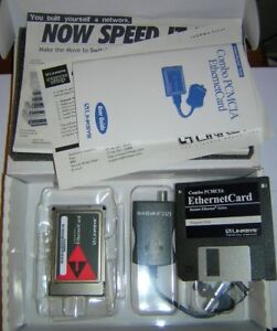 Linksys-PCMCIA-Ethernet-LAN-Combo-PC-Card-EC2T-Complete-Kit-in-Box