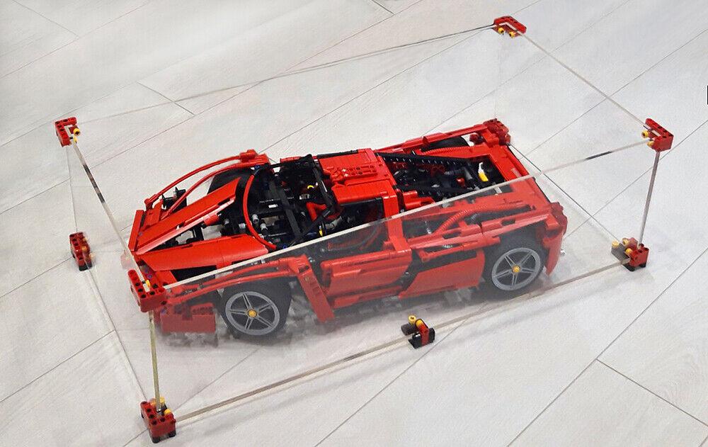 OLEGABOX 4mm Display Case for Lego Technic 8653 Ferrari