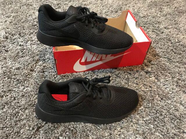Nike Tanjun triple black run free running shoes referee training marathon 10 men
