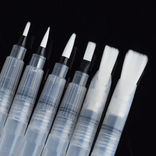 6PC//SET PILOT POINT WATER BRUSH INK PEN COLOR CALLIGRAPHY PAINT DRAWING TOOL NE8