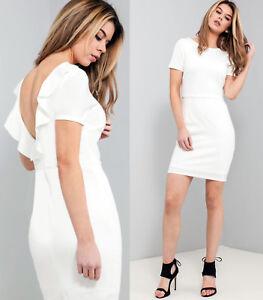 ASOS-Frill-Back-Mini-Dress-in-White-Sizes-6-to-18