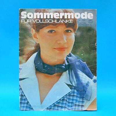 Original Sommermode Für Vollschlanke 1982 | Verlag F. Die Frau | Ddr Schnittbogen Pramo F Reinweiß Und LichtdurchläSsig
