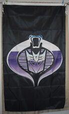 CobraCon G.I. Joe Cobra Decepticons 3'x5' Vertical Flag Banner Transformers USA