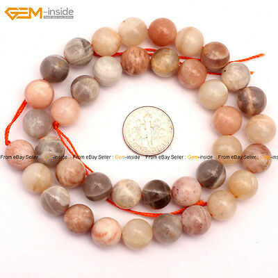 Natural Gemstone Genuine Multi-Color Sunstone Loose Beads For Jewelry Making 15""
