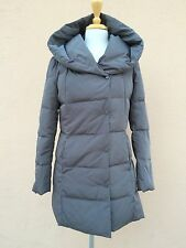 Cole Haan Signature Down Coat Puffer Warm Zip Hood gunmetal Grey S $280