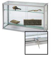 Display Case Countertop Upright 18 X 8 X 30 Adjustable Shelves Glass Locking