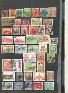 TOP NEEWS : très belle collection  de timbres anciens PEROU .4scans.+++++++