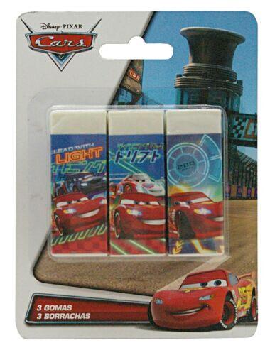 Disney Pixar Cars Radiergummi Radierer NEU 3er Pack Radier Gummi