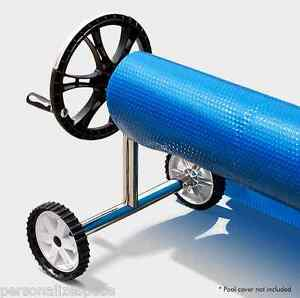 Adjustable Swimming Pool Cover Roller Solar Blanket Reel With Wheels Au Shipping Ebay