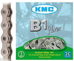 KMC-B1-Silver-Chain-112-Links-Single-Speed-Fixed-Gear-Bicycle-Bike-1-2-034-x-1-8-034