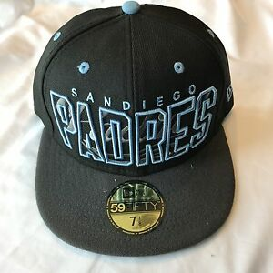 1149d49c286c75 Team California San Diego Padres MLB New Era 59Fifty Black Cap Size ...