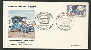 Fdc 1er Jour Madagascar Répoblika Malagasy 1966 Tananarive /l1733