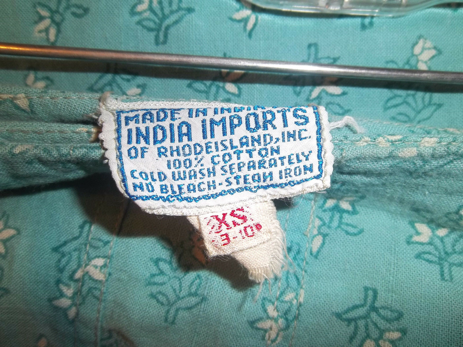 Vintage 70's India Imports of Rhode Island Wrap S… - image 5