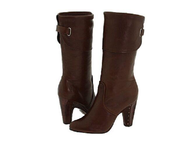 348 Frye Women  Leather Boots Sz 9.5 New Dark Brown