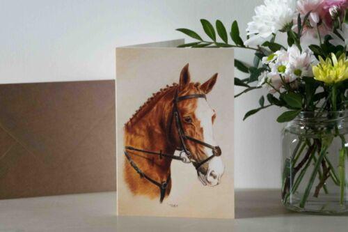 Job Lot Wholesale 6x Horse Greetings Cards Blank Inside Pony Animal Pet Birthday