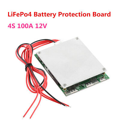 3S/4S 100A 12V Lithium 18650 Battery Cell BMS PCB Protection Balance Board HighQ