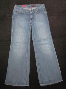 5250dd5c644 AG ADRIANO GOLDSCHMIED Wm s Jeans Glisten Wide Leg Sz 29 100% Soft ...