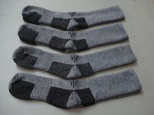 NWOT Men's Merino Wool Blend Socks 4 Pair Size 10-13 Black/Grey #963A
