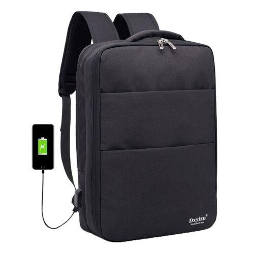 Outdoor Anti-Theft Travel Waterproof Backpack USB Port Laptop School Bags F//1