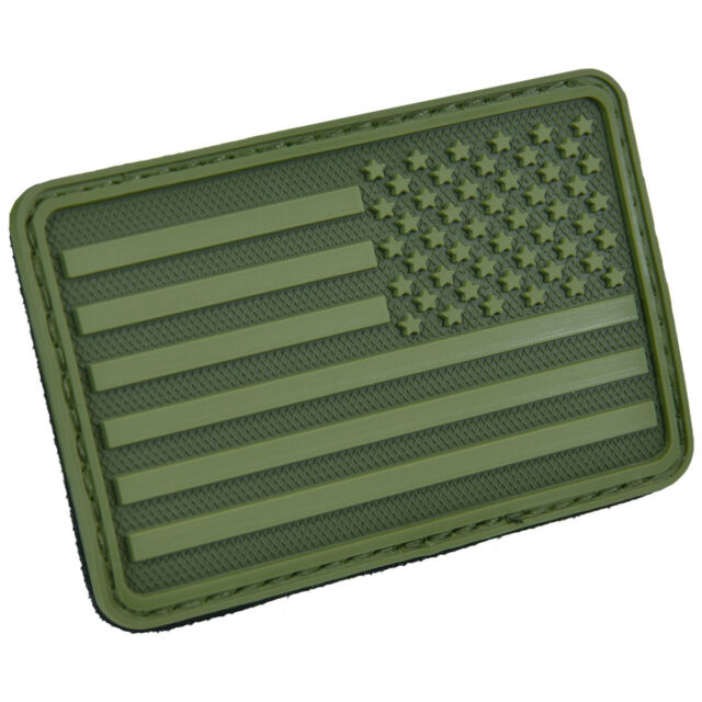 3D Rubber Union Jack Morale Military Army Tactical EDC Airsoft Flag Patch Black