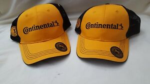 7f957b19 Details about Lot of 2 Continental Tires Racing Yellow Black Adjustable  Baseball Hat Cap