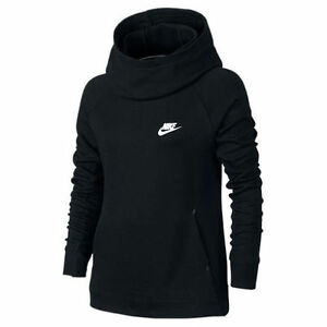 NEW Nike Girls Youth Tech Fleece Pullover Hoodie 679215 010 Black ...
