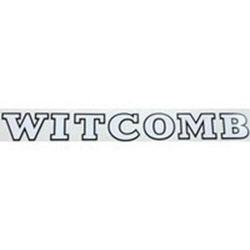 WITCOMB downtube decal.