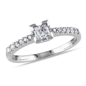 Amour 1/2 CT TW Diamond Engagement Ring in 14k White Gold