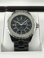 Ladies Chanel J12 Black Diamond Bezel Watch